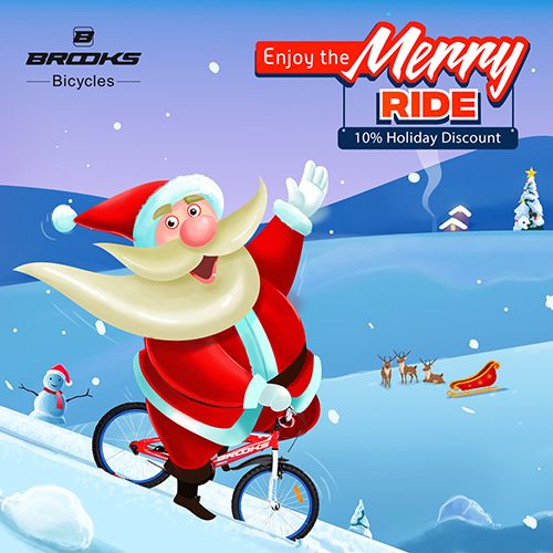 Brooks Bicycle Merry Christmas