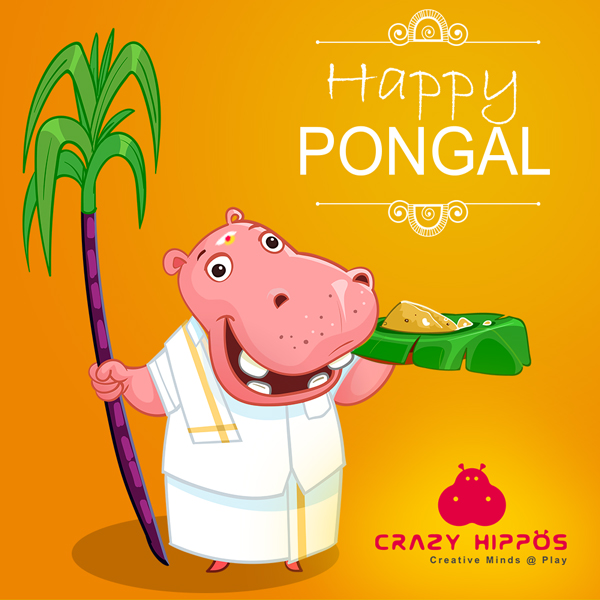 CrazyHippos - Happy Pongal Creative