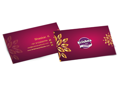 Krishna Food Business Card